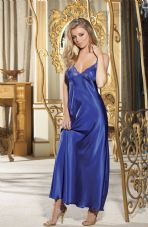Stunning Blue Long Gown Nightdress